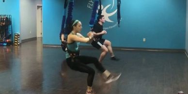 Bungee 101 is a 45 minute cardio-blasting, core-strengthening workout which utilizes resistance from