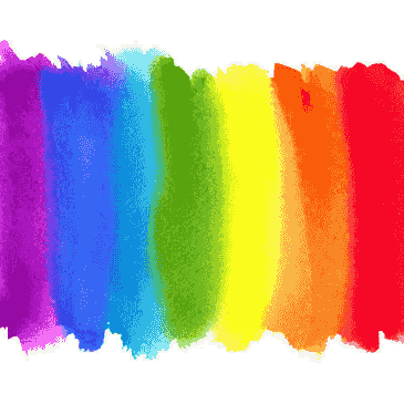 Rainbow watercolour representing LGBTQ Support