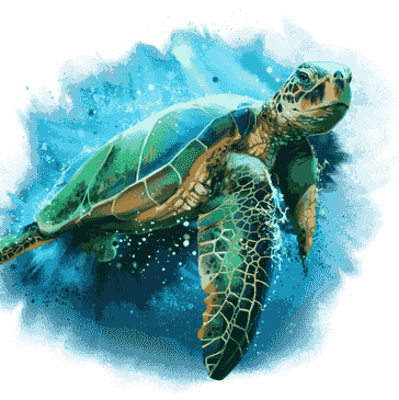 Watercolour of a Sea Turtle representing Spiritual Consulting and Support