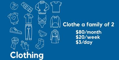 How we use your donations to pay for clothing