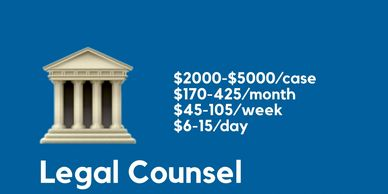 How we use your donations to pay for legal counsel