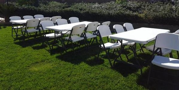 Table and chair rentals in Lancaster CA.  Delivery to Palmdale, Quartz Hill,  Acton, Rosamond, CA.
