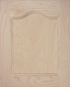 P02 plywood panel door cathedral top, MDF panel, cabinet door, solid wood