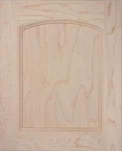 P04 plywood cabinet door, solid wood, MDF panel, Roman Arch top, kitchen door