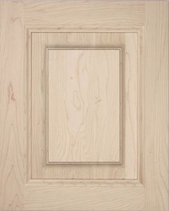 S01 Solid Wood Cabinet Door, Straight top, raised panel, kitchen door