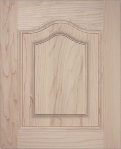 S02 Solid raised panel door, cathedral top, cabinet door, kitchen door.