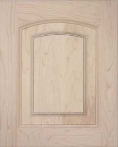 S04 Solid wood cabinet door, raised panel, Roman arch top, kitchen door