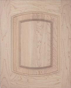 S05 Solid raised panel cabinet door, Roman arch top and bottom, kitchen door