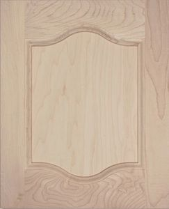 P03 plywood cabinet door, cathedral top and bottom, MDF panel, solid wood, kitchen door