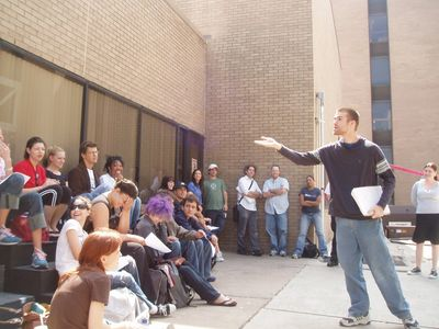 Timmy Wood, performing for UH BA students circa 2005.