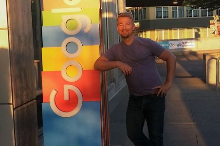 Adam at Google Seattle before meeting with cloud development team