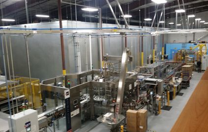 HummKombucha's production floor was made operational by Gaertnerpc, picture of the line