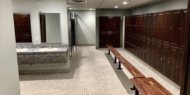 Executive Locker Rooms with showers