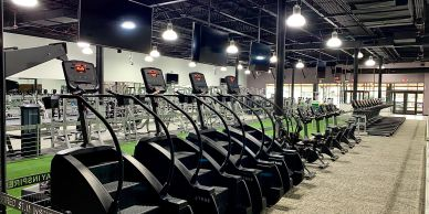 Cardio with stairclimbers, bikes, treadmills, and ellipticals
