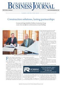Robbins Construction Group company is profiled.