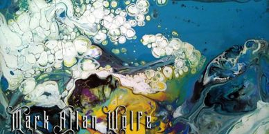 Cover art for Mark Allan Wolfe Indie Rock Vol 2, multi colored image with text