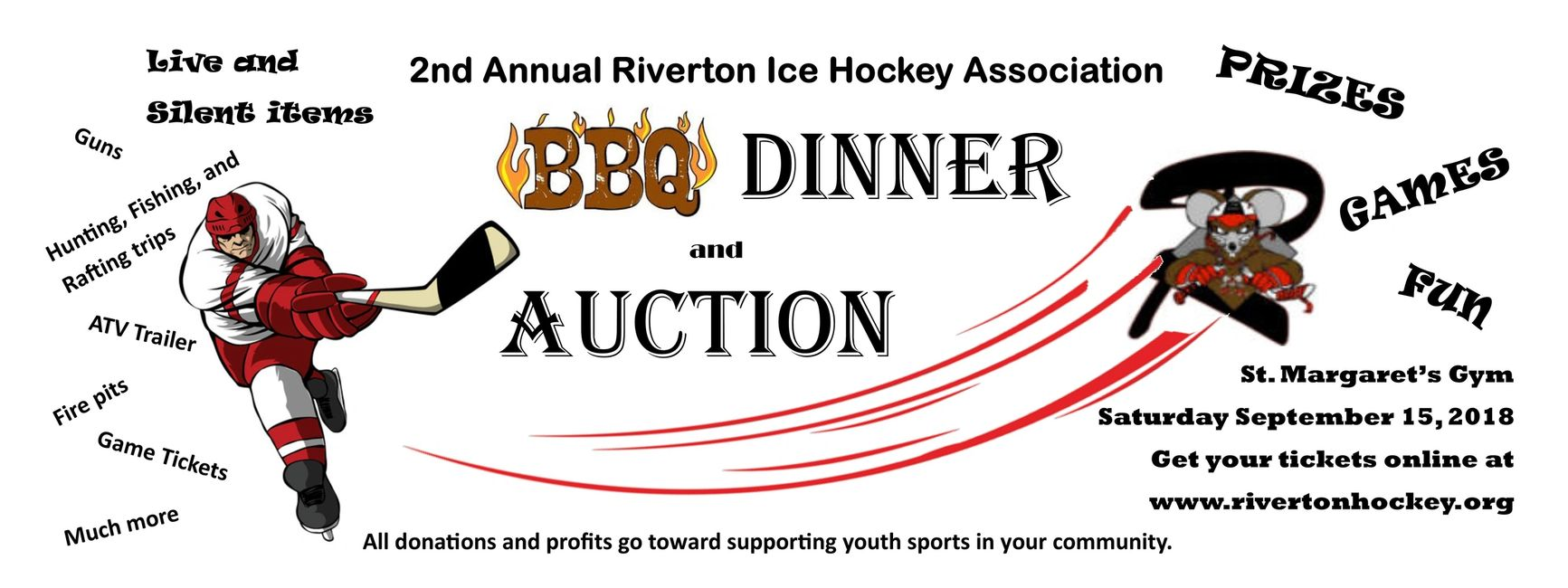 Second Annual Riverton Ice Hockey Association BBQ Dinner and Auction