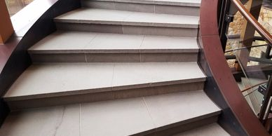 "alt=""Blue Stone Staircase deep cleaning and restoration"""