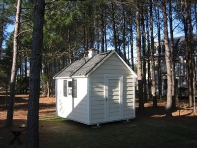 Pictured is a 8'x 10'  A-Frame shed built on site in in Westchester NY. Click here to learn more