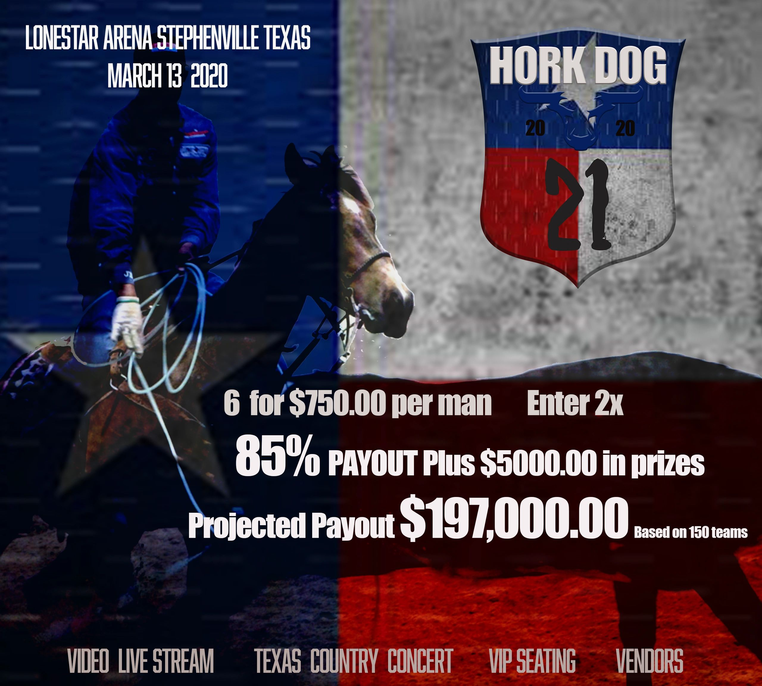 The 20th year of the Hork Dog open roping!  Live Stream.
