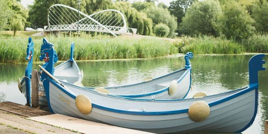 Row boat hire, viking boats in Bedford