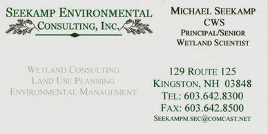 Seekamp Environmental Consulting Business Card