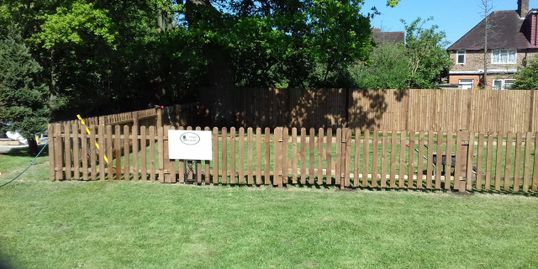 Ready made picket fence panels
