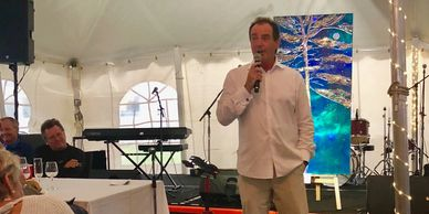 The amazing Rod Black acting as auctioneer for this year's  event.