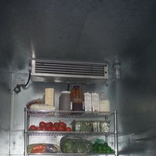 Food being stored in our party trailer rental in Morris County, NJ