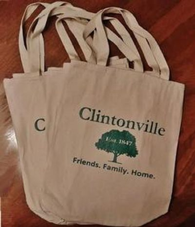 Clintonville printed tote bag. Lucky Dog Tee Shirts, Clintonvillle, custom tee printing, Columbus OH