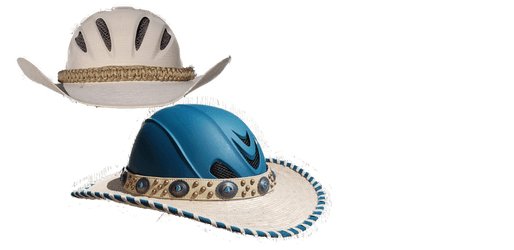 Shady Riders: part helmet,  part cowboy hat, all cool