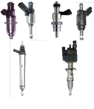 Different styles of GDI fuel injectors