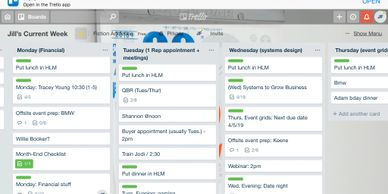 Current Week Trello Board