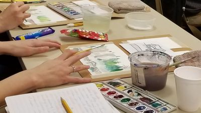 Image taken from past watercolor demonstration.