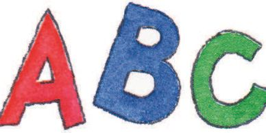 ABC in Red, Blue, Green