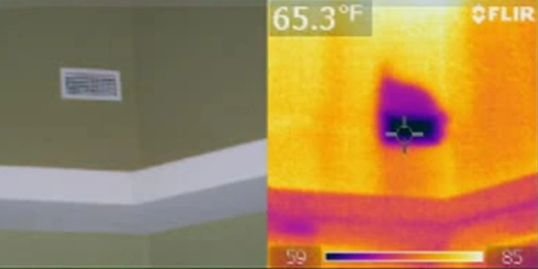 Thermal imaging with home inspection Infrared inspection Infrared testing Thermal imaging test