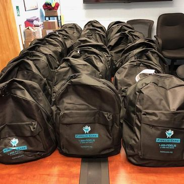 Fidelis Care donated backpacks and lunch bags to our program in 2018.