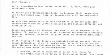 50(C)(3) IRS Letter  f Determination confirmation for Southern Arizona Centre for Arts