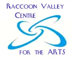 Raccoon Valley Centre for the Arts logo and link to the Virtual Art Gallery