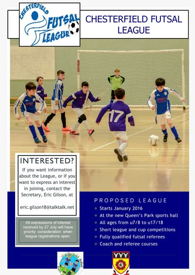 this is the 2015 flyer inviting expressions of interest in futsal