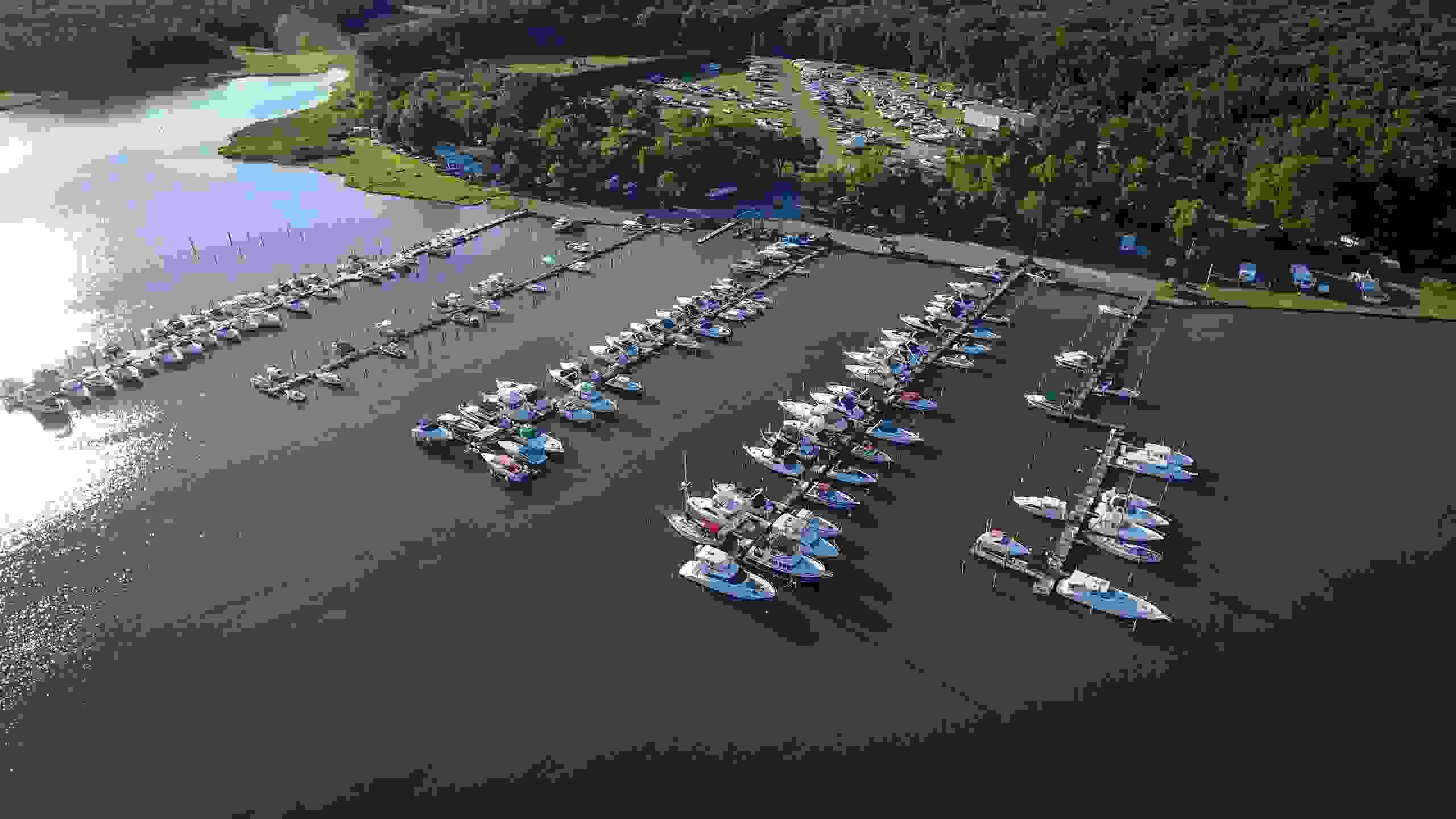 Aerial Image - Goose Bay Marina & Campground - Service Department - Welcome, MD