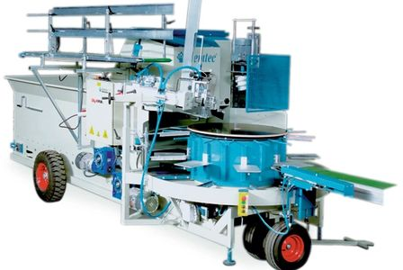 fill & drill carrossel nursery automation media bark rice hull topper Potting machines for Sale