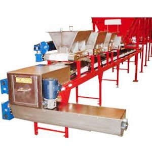 Continuous soil mixing line continuous mixer nursery automation