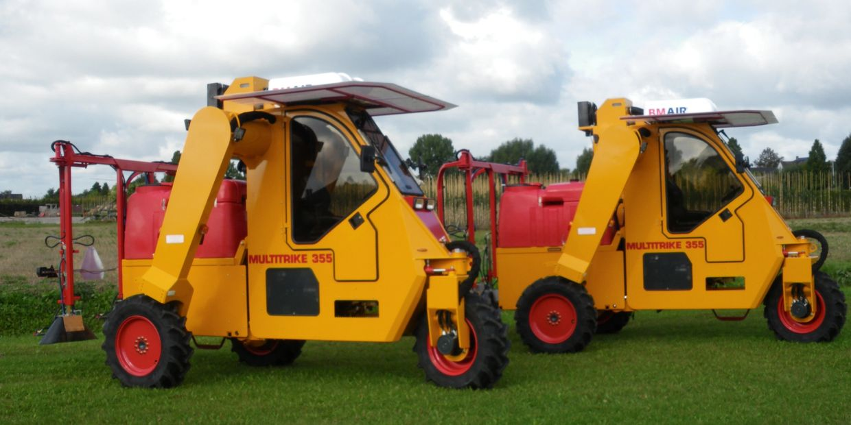 Nursery Automation, Damcon MultiTrike , sprayer, cultivator, trimmer, digger, tractor