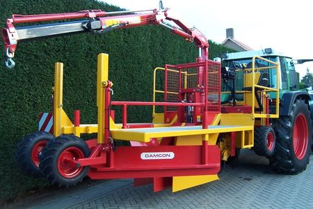 Tree Planter Tree Setter Damcon tree planter with rotary soil ditcher to plant trees