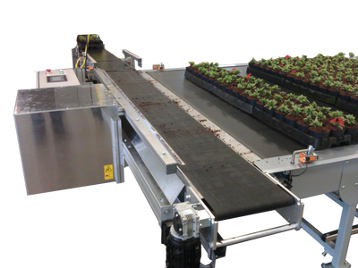 Nursery Automation, Material handling systems to move flats and pots with minimum effort