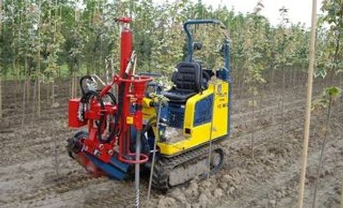 soil drill for placing bamboo of fiberglass stakes HSD-FZ