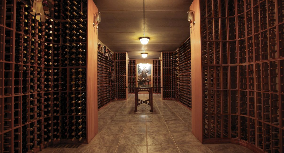 Enjoy tasting old vintages of Gray Ghost wine in the wine library.