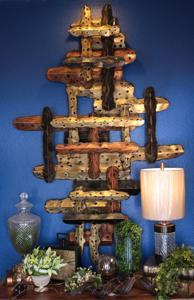 metal art, lamp accessories and furniture