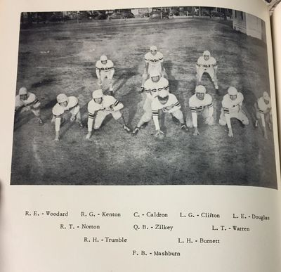 Cathedral School's 1948 football team